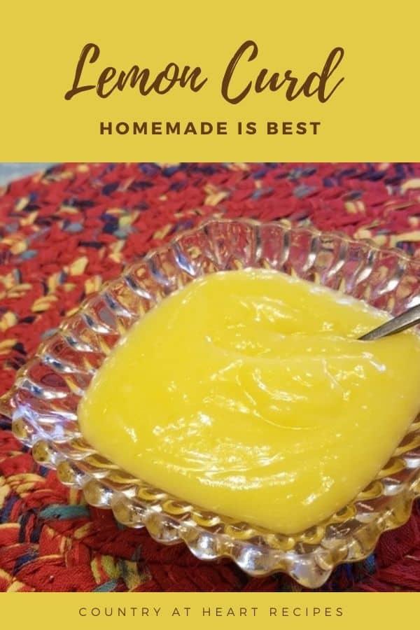 Pinterest Pin - Lemon Curd