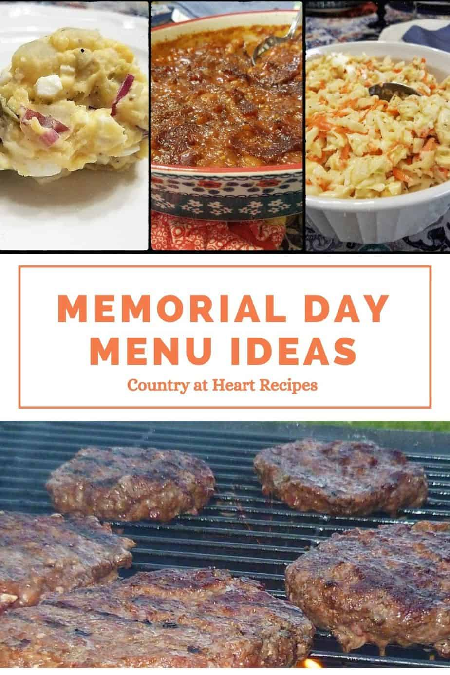 Pinterest Pin Memorial Day Menu Ideas