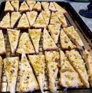 Lavender Pistachio Shortbread Cookies