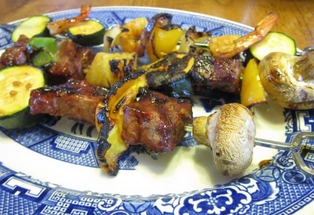 Steak and Shrimp Shish Kabobs
