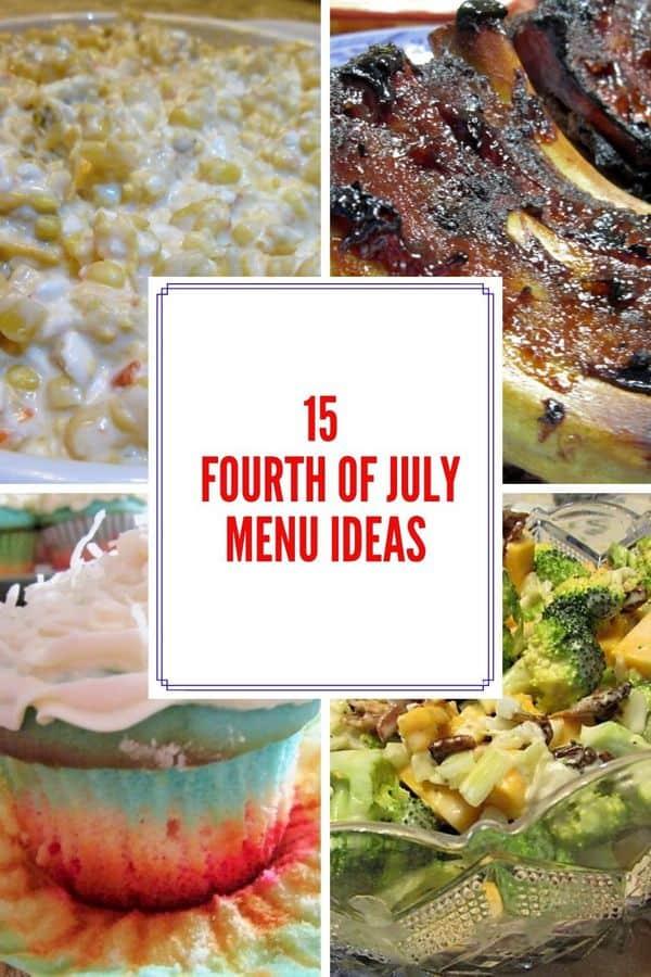 Pinterest Pin - Fourth of July Menu Ideas