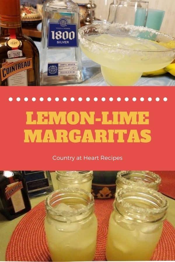 Pinterest Pin - Lemon-Lime Margaritas