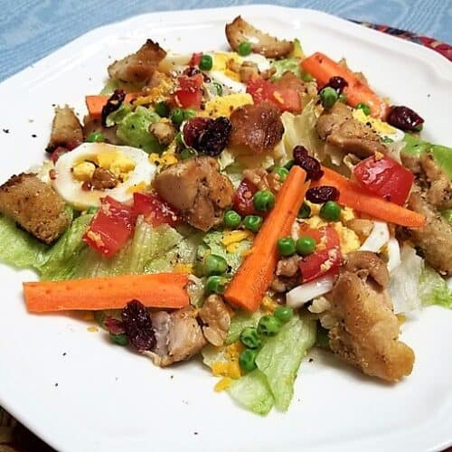 Recipe for Chicken Salad with Cranberries and Walnuts