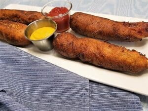 Serving Corn Dogs