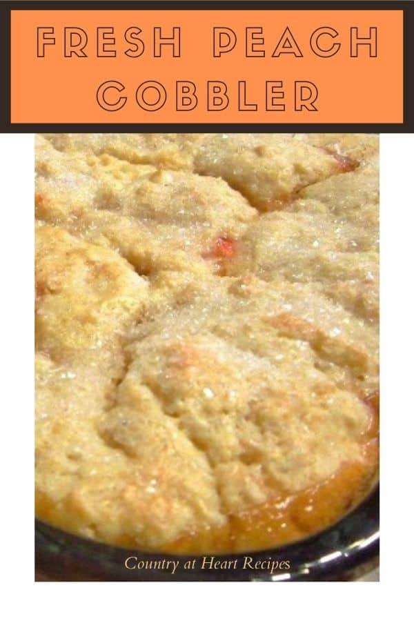Pinterest Pin - Peach Cobbler