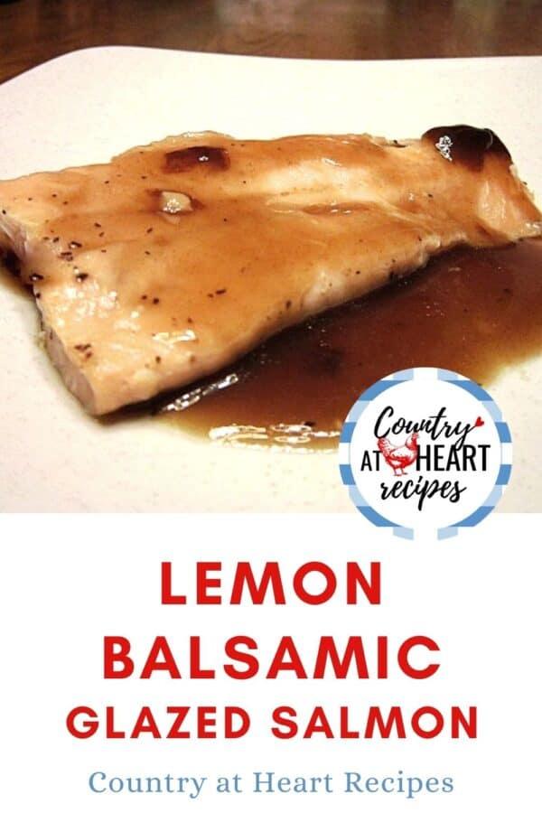 Pinterest Pin - Lemon Balsamic Glazed Salmon