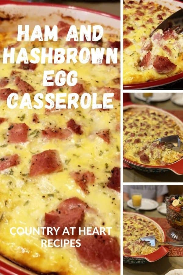 Pinterest Pin - Ham and Hash Brown Egg Casserole