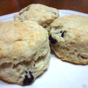 Recipe for Blueberry Sourdough Biscuits
