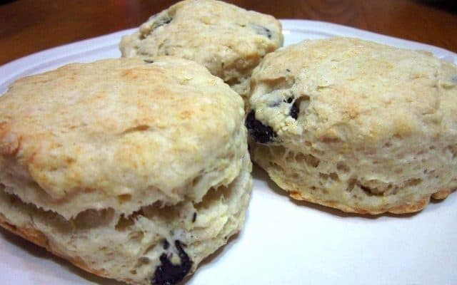 Blueberry Sourdough Biscuits