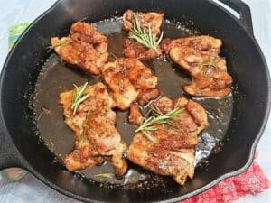 Frying the Chicken Thighs in Oil