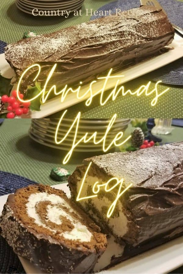 Pinterest Pin - Christmas Yule Log