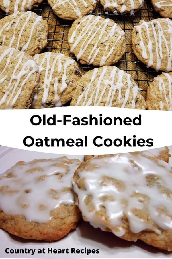 Pinterest Pin - Old-fashioned Oatmeal Cookies