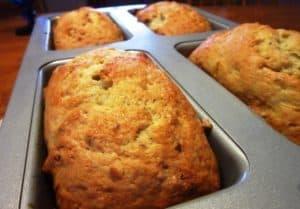 Baked loaves of Sourdough Banana Bread