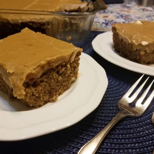 Recipe for Spice Cake with Penuche Frosting