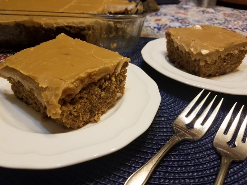 Spice Cake with Penuche Frosting