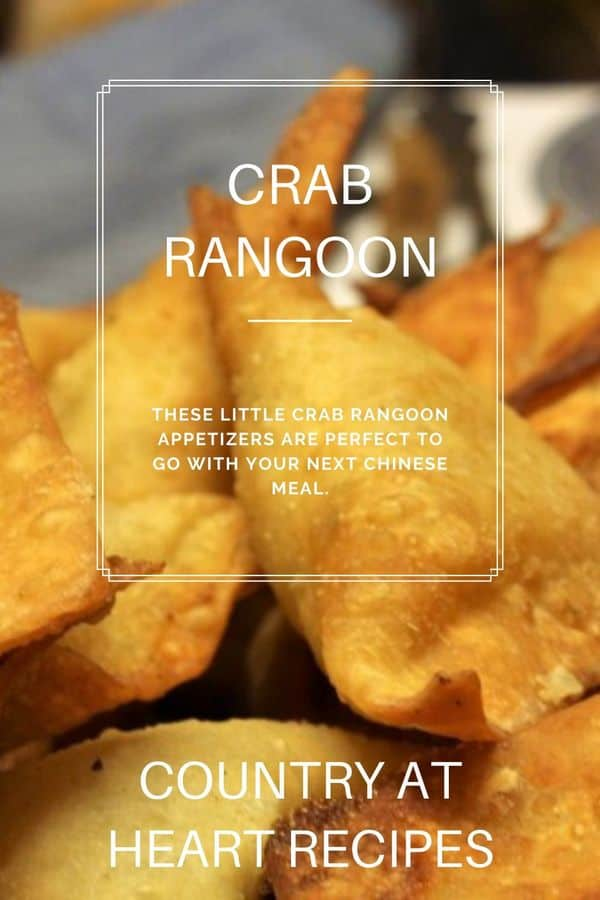 Pinterest Pin Crab Rangoon