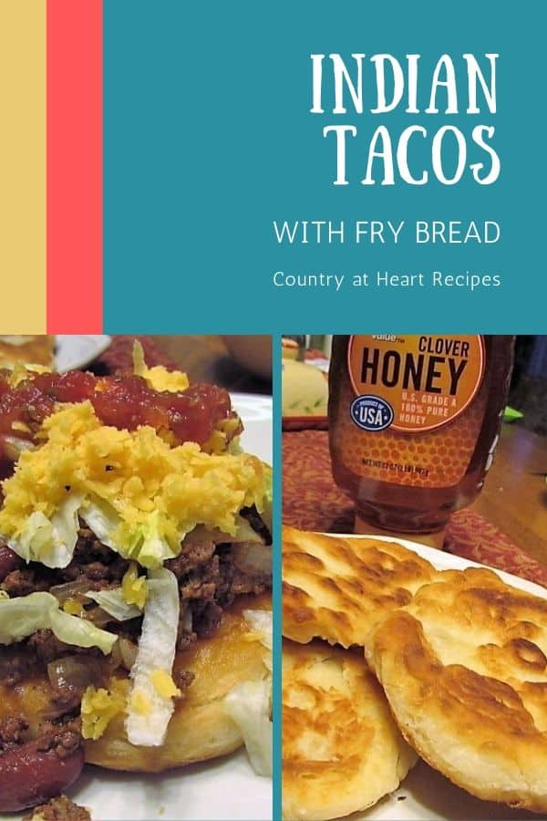 Pinterest Pin - Indian Tacos with Fry Bread
