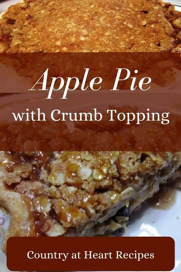 Pinterest Pin - Apple Pie with Crumb Topping