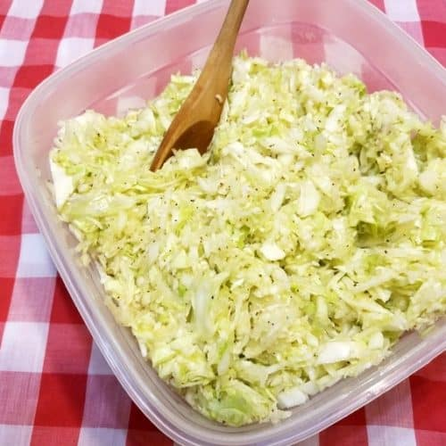 Recipe for German Style Cabbage Salad