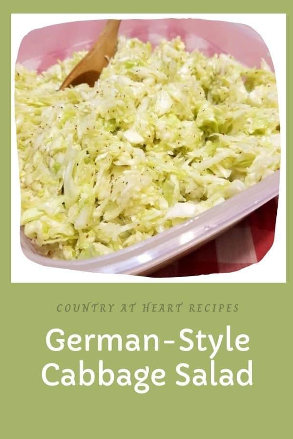 Pinterest Post - German Style Cabbage Sald