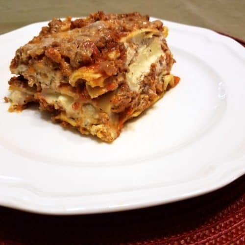 Recipe for Homemade Lasagna with Ricotta Cheese