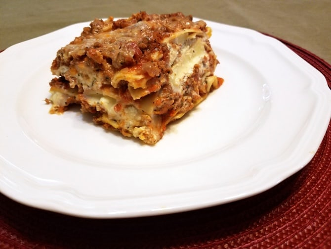 Homemade Lasagna with Ricotta Cheese