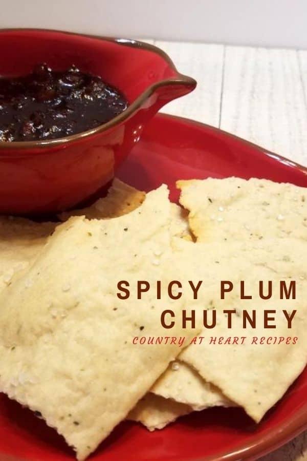 Pinterest Pin - Spicy Plum Chutney