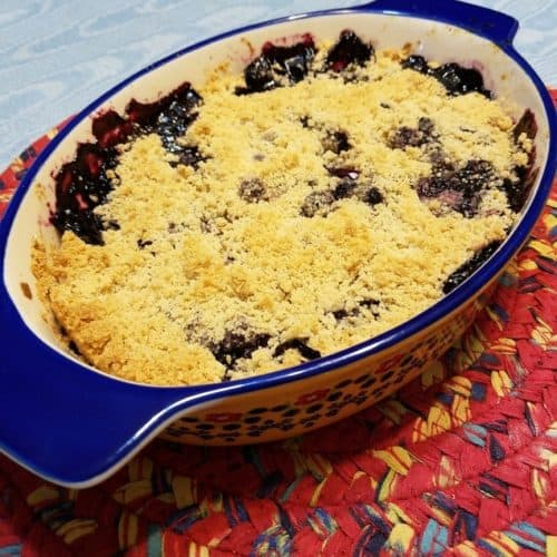 Recipe for Blueberry Crumble with Oat Flour