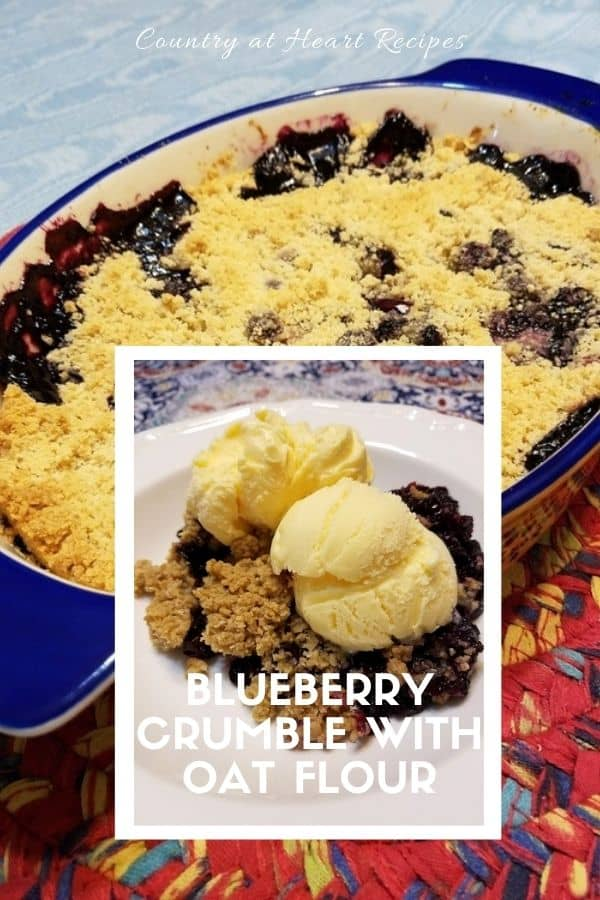 Pinterest Pin - Blueberry Crumble with Oat Flour