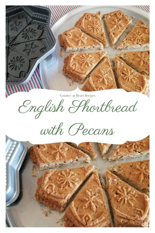 Pinterest Pin - English Shortbread with Pecans
