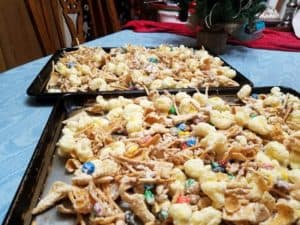 Christmas Reindeer Snack - Two trays