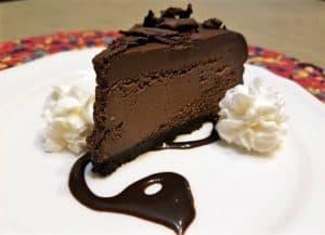 Chocolate Fudge Truffle Cheesecake for my 55th Birthday!