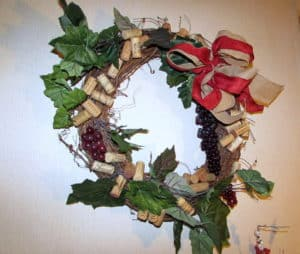 Grapevine Wreath with Wine Corks