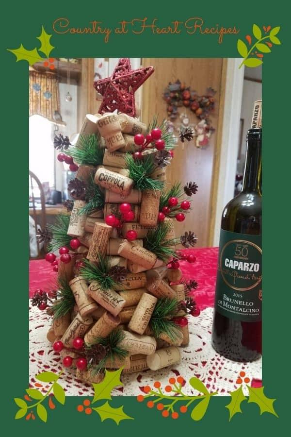 Pinterest Pin - Wine Cork Christmas Tree