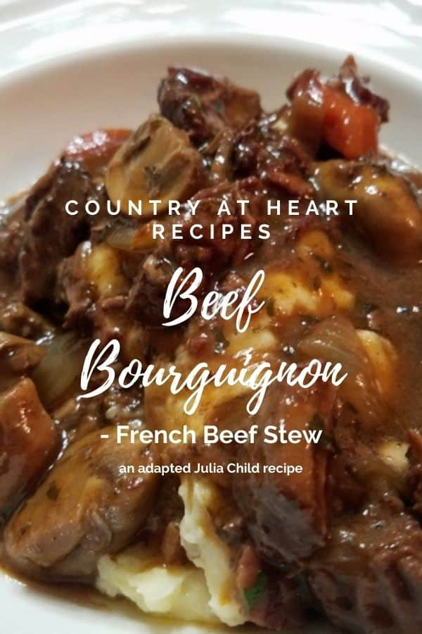 Pinterest Pin - Beef Bourguignon - French Beef Stew