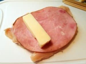 Preparing Chicken Ham and Cheese