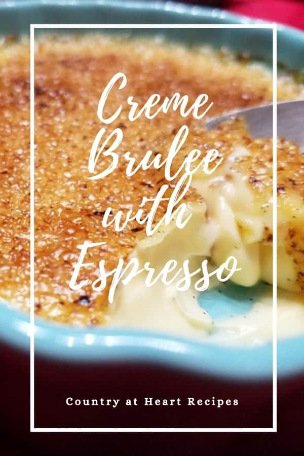 Pinterest Pin - Creme Brulee with Espresso