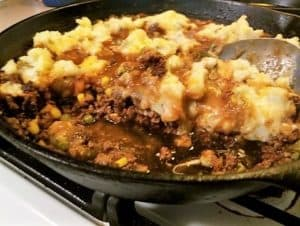 Serving Cottage Pie from the Skillet