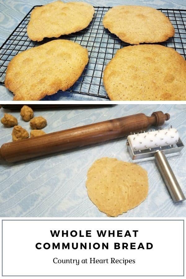 Pinterest Pin - Whole Wheat Communion Bread