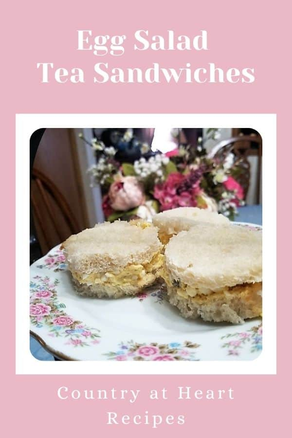 Pinterest Pin - Egg Salad Tea Sandwiches