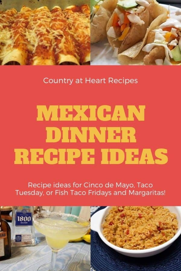 Pinterest Pin - Mexican Dinner Recipe iideas