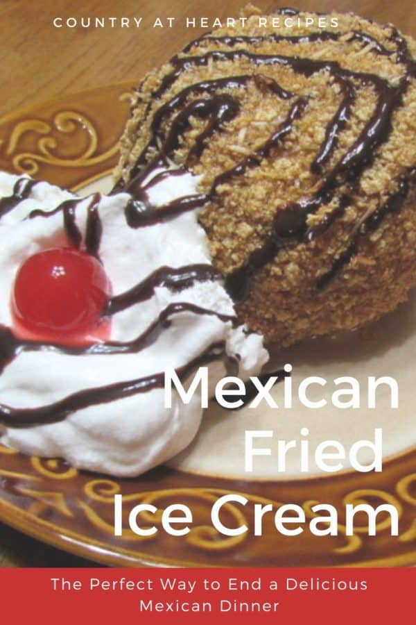 Pinterest Pin - Mexican Fried Ice Cream