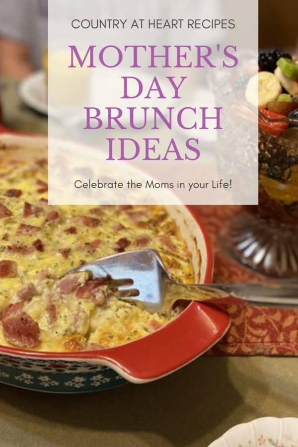 Pinterest Pin - Mother's Day Brunch Ideas