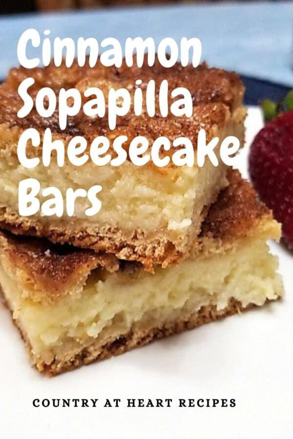 Pinterest Pin - Cinnamon Sopapilla Cheesecake Bars