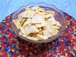 Serving Sourdough Cheddar Cheese Crackers