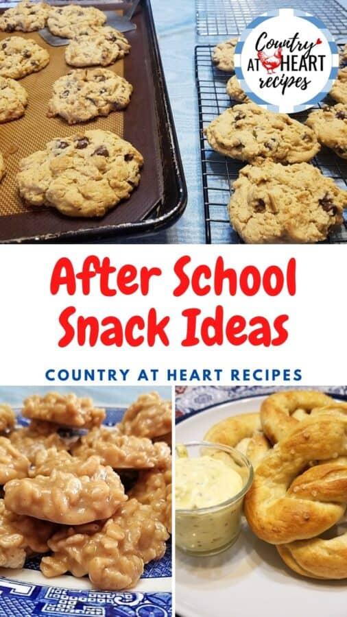 Pinterest Pin - After School Snack Ideas