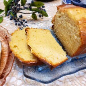 Serving Lemon Pound Cake at Tea