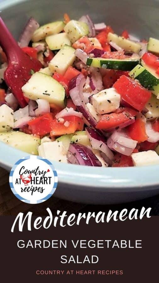 Pinterest Pin - Mediterranean Garden Vegetable Salad