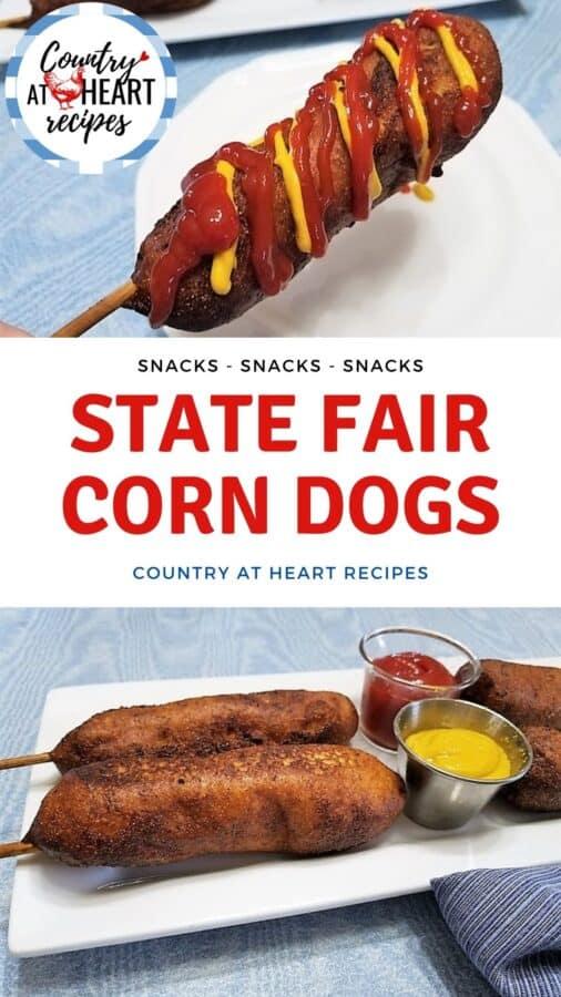Pinterest Pin - State Fair Corn Dogs