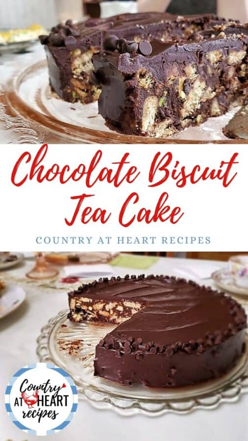 Pinterest Pin - Chocolate Biscuit Tea Cake